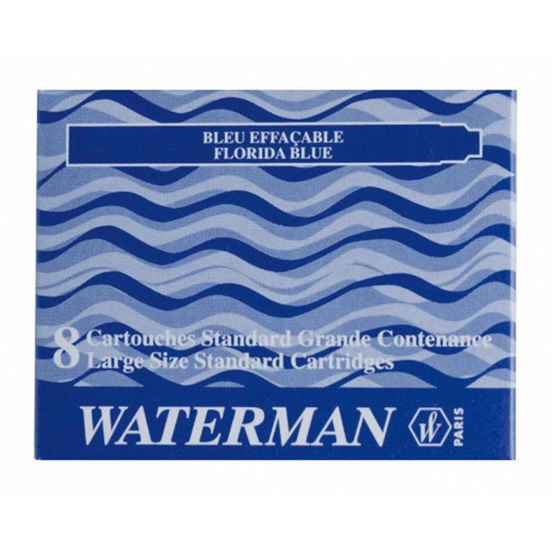 Waterman Tintenpatrone Waterman Standard 8ST floridablau