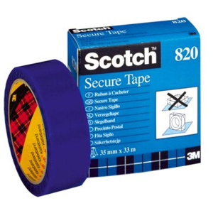 Scotch® Siegelband  820 - 35 mm x 33m - blau