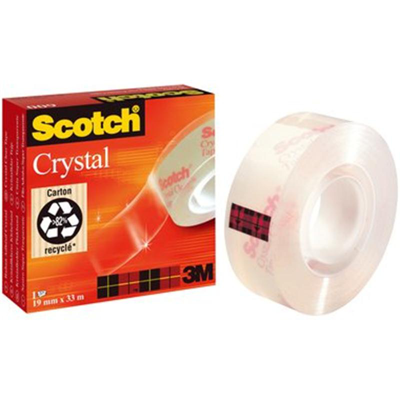 Scotch Klebeband Crystal 600, 33m lang, 19mm