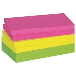 3M Haftnotiz neonfarben, 127x76mm, PG=6ST, Blatt 100