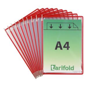Tarifold Sichttafel DIN A4 Metall 10 Stück rot