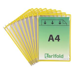 Tarifold Sichttafel DIN A4 Tarifold Metal, PG=10ST, gelb