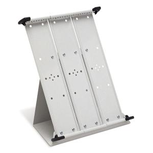 Tarifold Tischständer A4 montiert grau leer