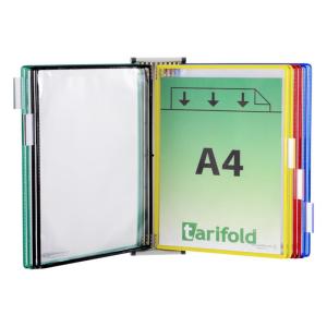 Tarifold Wandsichttafelset - magnetisch - grau - inkl. 10 Tafeln