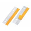 VELOFLEX HEFTFIX Heftstreifen - 30 x 105 mm - PVC - selbstklebend - glasklar - 100 Stück