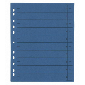 Trennblatt, 230 g/qm, A4, 24x30cm, blau