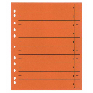 Preiswert & gut Trennblatt, 230 g/qm, A4, 24x30cm,...