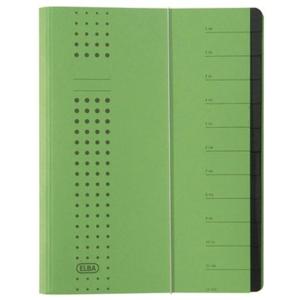 ELBA Ordnungsmappe chic A4  12 Fächer grün