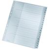 Leitz Register A-Z - DIN A4+ - Kunststoff - halbe Höhe - grau - 20 Blatt