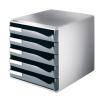 Leitz Schubladenbox Post-Set - DIN A4 - 5 Schubladen - grau