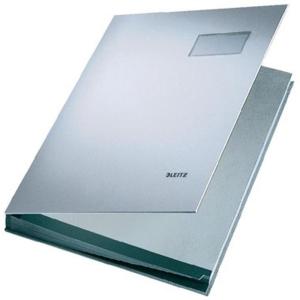 Leitz Unterschriftsmappe - DIN A4 - 20 Fächer - grau
