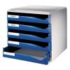 Leitz Schubladenbox Post-Set - DIN A4 - 5 Schubladen - blau