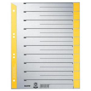Leitz Trennblatt - DIN A4 - 10 Tabe - grau/gelb