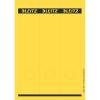 Leitz Ordner-Rückenschild PC-beschriftbar - 6,1 x 28,5 cm - gelb - 75 Stück