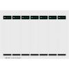 Leitz Ordner-Einsteckrückenschild - für Leitz Ordner 101 - 3,1 x 19 cm - weiß - 175 Stück