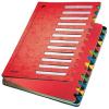 Leitz Deskorganizer Color - Pultordner - DIN A4 - 24 Fächer - rot