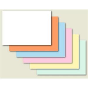 Brunnen Karteikarten - A6 - blanko - orange - 100 Stück