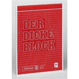 Brunnen Schreibblock Der Dicke Block, kartiert, geloch