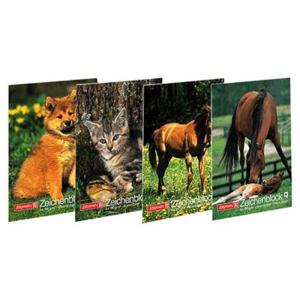 Brunnen Zeichenblock mit Tiermotiv, A4, 20 Blatt