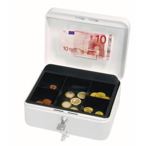 Wedo Geldkassette, 2, 200x160x90mm, 880g, weiß