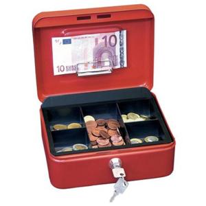 Wedo Geldkassette, 1, 152x115x80mm, 644g, rot