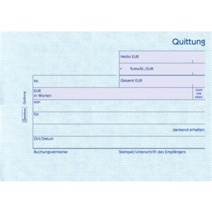 Avery Zweckform Formulare, Quittung, MwSt. separat...