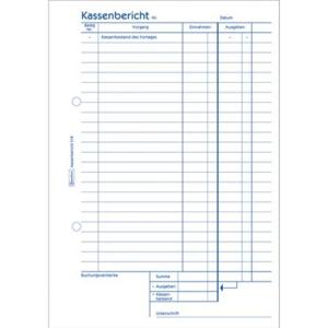 Avery Zweckform Kassenbestandsrechnung ZWE 318, A5 hoch