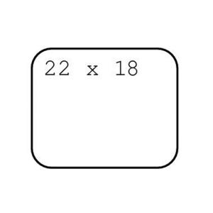 Avery Zweckform Vielzweck-Etiketten, 22x18mm, PG=1200ST,...