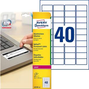 Avery Zweckform Etiketten abziehsicher, 45,7x25,4,...