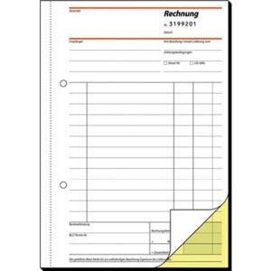 Sigel Auftragsbuch SD002 A5 hoch, 3 x 40 Blatt