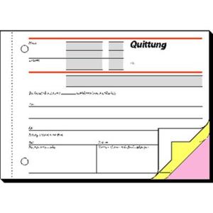 Sigel Quittung SD023, A6 quer, 3x40 Blatt