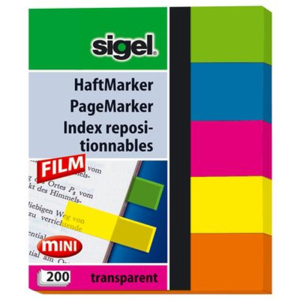 Sigel Haftmarker Film, 50x60 mm (mini), Blatt 5x40, 5 Fa