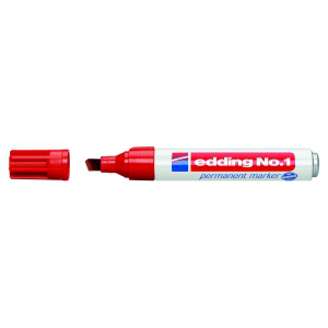 edding No. 1 Permanentmarker - Keilspitze - 1-5 mm -...