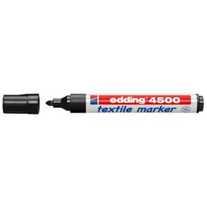 edding 4500 Textilmarker - Rundspitze - 2-3 mm - schwarz