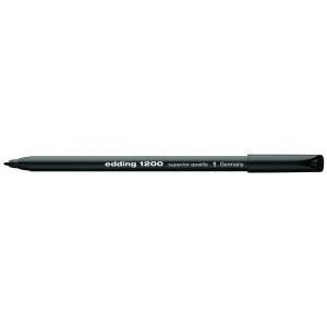 edding 1200 colour pen fine Fasermaler - 1 mm - schwarz