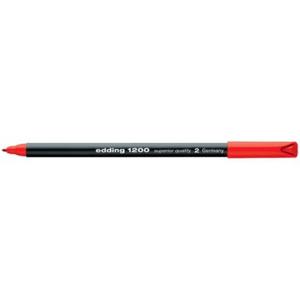 edding 1200 colour pen fine Fasermaler - 1 mm - rot