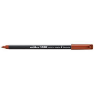 edding 1200 colour pen fine Fasermaler - 1 mm - braun