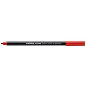 edding 1300 colour pen Fasermaler - 2 mm - rot