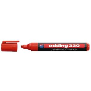 edding 330 Permanentmarker - Keilspitze - 1-5 mm - rot