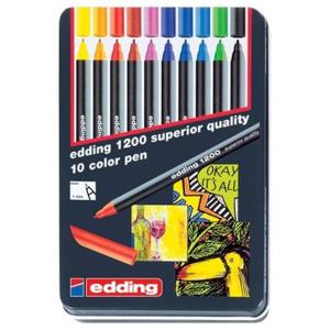 edding 1200 colour pen fine Fasermaler - 1 mm - 10er...