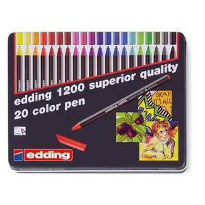 edding 1200 colour pen fine Fasermaler - 1 mm - 20er...