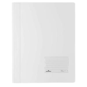 Durable Schnellhefter transluzent, A4, weiß