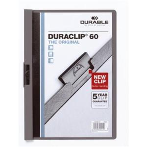Durable Klemm-Mappe DURACLIP, A4, 60Bl anthrazit