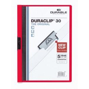 Durable Klemm-Mappe DURACLIP, A4, Fassungsvermögen