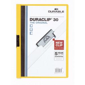 Durable Klemm-Mappe DURACLIP, A4, gelb