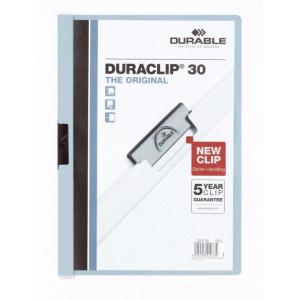 Durable Klemm-Mappe DURACLIP, A4, bis 30 Bl., h.-blau