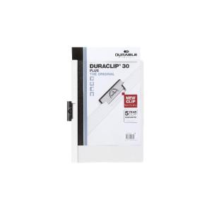 Durable Klemmmappe DURACLIP - DIN A4 - weiß