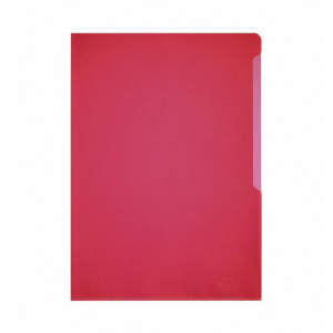 Durable Sichthülle A4, 0,12mm rot PP o.+r. offen,...