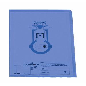 Durable Sichthülle DIN A4, seitl. u. oben offen, blau