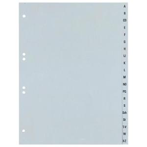 Durable Register A-Z Kunststoff, A4 volle Höhe